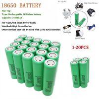 1/2/4/6/8/10/12Pcs 2500mAh 3.7V Li-ion INR Batterie Rechargeable High Drain