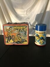 1973 Emergency! Tv Show Vintage Metal Lunch Box And Thermos!