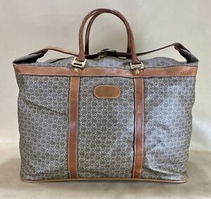 """Vintage Rare Wings Coated Canvas 20"""" Duffle Bag Weekender Carry On Luggage"""