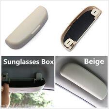 ABS Car Sun Glasses Holder Sunglasses Eyeglass Storage Box Case Beige Universal