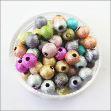 100Pcs Mixed Acrylic Plastic Round Ball Spacer Beads Charms DIY 6mm