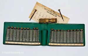 Swartchild, Star Crown Taps, Drills, Brass Holders & Wallets, Watchmaking Tools