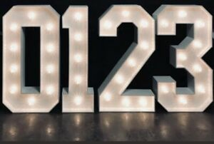 4ft Giant Numbers & Letters For Hire Contact Us Now To Reserve Your 2021 Booking