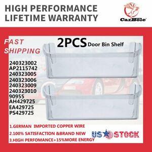 2PCS Lower Door Bin Compatible with Frigidaire Refrigerator 240323002 AP2115742