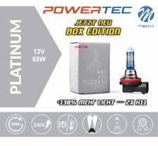 Powertec by M-Tech H11 Platinum +130% mehr Licht Halogen Lampen Neu Box Edition