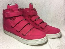 ADIDAS Originals A.039 pink white hi-top trainers basketball boots UK 6 in VGC+
