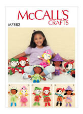 McCall's 7882 Sewing Pattern to MAKE Cheeky Dolls & Elves with Clothing