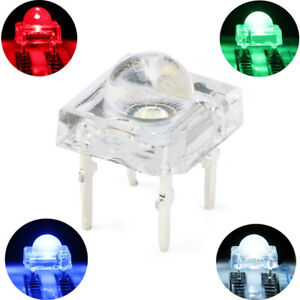 5mm 4pin Ultra Bright Piranha LED Super Flux White,Green,Red,Blue Emitting Diode