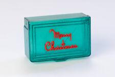 Mid Century Merry Christmas Plastic Box