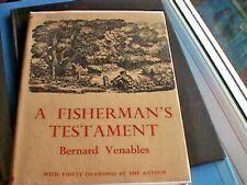 A Fisherman's Testament by Bernard Venables - Hardback, 1949