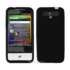CUSTODIA COVER Per HTC LEGEND G6 A6363 SILICONE NERO MORBIDO GEL PROTEZIONE