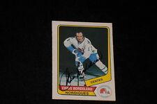 CHRIS BORDELEAU 1976-77 WHA O-PEE-CHEE SIGNED AUTOGRAPHED CARD #49 NORDIQUES