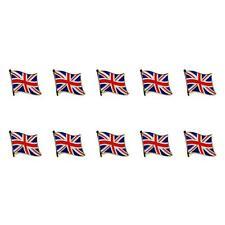 "LOT OF 10 BRITISH FLAG LAPEL PIN 0.5"" UK Union Jack England Pinback Tie Badge"