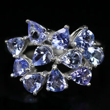 Sterling silver 925 Genuine Natural Blue Violet Tanzanite Ring Size S  (US 9.25)