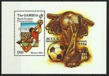GAMBIE GAMBIA SPORT FOOTBALL COUPE MONDE MEXICO SOCCER WORLD CUP FUßBALL ** 1986