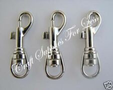 10 Swivel Snap Hook Clips for Key Fob Hardware Chains