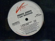 "MAXI 12"" GRACE JONES 7 day weekend 73008 24040 1 LAFACE RECORDS"