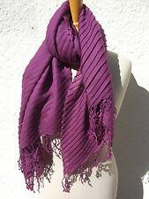 Sciarpa Foulard in lana Stola da donna nuovo merino PIEGHE tessuti a mano