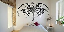 Wall Room Decor Art Vinyl Sticker Mural Decal Tribal Monster Dragon Draco FI587