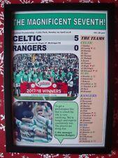 Celtic 5 Rangers 0 - 2018 - Celtic champions - framed print