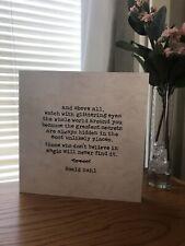 Roald Dahl Quote Wooden Sign Plaque Vintage Rustic Farmhouse Home Decor