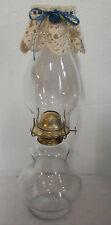 "Vintage GLASS Shapely KAADAN HURRICANE OIL LAMP Globe Shade Diolly Cover 16"" EUC"