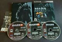 Mass Effect Trilogy (Sony Playstation 3, 2012) PS3 CIB w/ Slipcover
