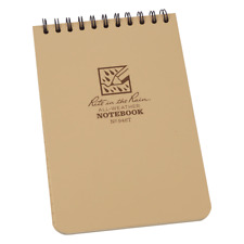 """Rite In The Rain All Weather Waterproof Top Spiral Notepad 4x6"""" 946T Tan"""