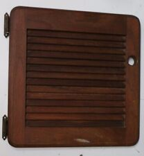 Marine Boat Sailboat Solid Teak Wood Louvered Storage Cabinet Door P with Hinges