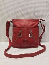 Tyler Rodan Red Faux Leather Shoulder Bag Purse
