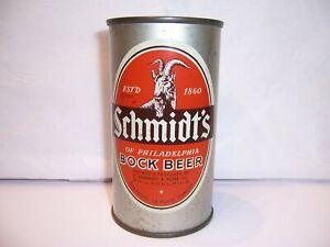 1959 Schmidt's Sons Bock Flat Top Beer Can Brewed in Philadelphia, PA  Tax Lid