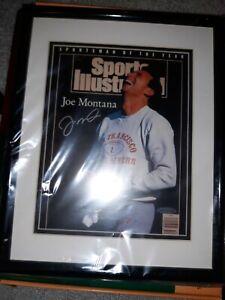 Joe Montana Autographed Sports Illustrated 49ers Photo Framed UDA Upper Deck