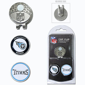 Tennessee Titans NFL Team Golf Cap Clip with 2 Magnetic Enamel Ball Markers