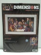 Dimensions Stamped Cross Stitch Kit 3206 Last Supper 18 x 9in 2002 NIP