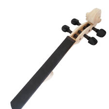 4/4 Violin White Head Maple Wood Hole Drilled Neck Polished Fingerboard + Pegs