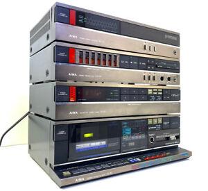 AIWA Audio System Pre & Power Amplifier GX-110 BX-110 Tuner TX-110 Deck K7 FX-90