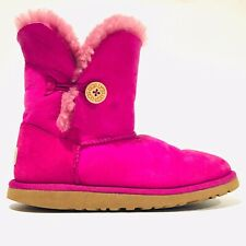 UGG Australia Pink Bailey Boots With Buttons Women Size 6