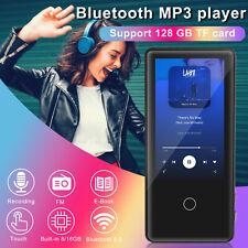 MP3 Player Bluetooth 5.0 Full Touch Screen Music FM Radio Speeker 8/16GB TF Card