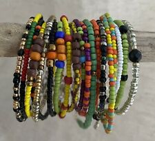 18 Seed Bead Stacking Bracelets