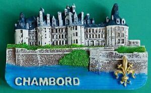 Souvenir Fridge Magnet Chambord Chateau Palace Loire Valley France