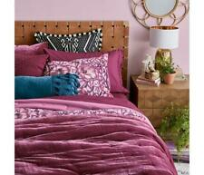 Opalhouse Velvet MERLOT Tufted Quilt Coverlet - TWIN Comforter Only NEW GORGEOUS