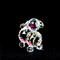 Puppy Dog Crystal Cut &Swarovski Element Inside Base with Gift Box NEW_UK Seller