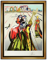 Salvador Dali Poet Advises The Maiden Original Color Lithograph Signed Surreal