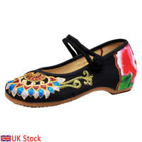 Chinese style Embroidered shoes Women fashion Take buckle Dancing shoes