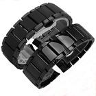 Gloss or Matt Ceramic Black Bracelet Watch Strap Band for Armani AR1451 AR1452