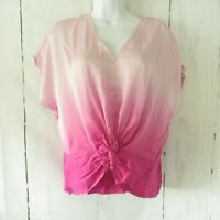 New YFB Young Fabulous & Broke Top S Small Pink Tie Dye Top Twist Front