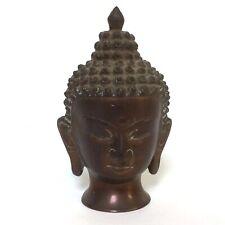COPPER WORSHIP BUDDHISM SAKYAMUNI BUDDHA HEAD STATUE