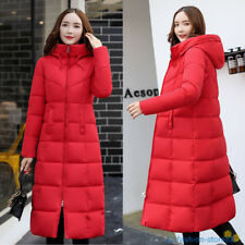 New Womens Winter Down Coat Thick Long Cotton Parka Hooded Warm Jacket