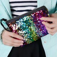 Reversible Sequins Mermaid Handbag Purse Party Glitter Clutch Bag Women Wallet