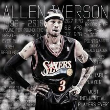 Allen Iverson Basketball Star Fabric Art Cloth Poster 13inch x 13inch Decor 28